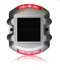 Cat-Eye-Red-LED-Light-3m-Reflector-Aluminum-Solar-Road-Stud