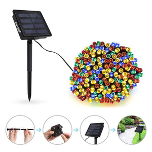 Hardoll® 200 LED Solar fairy String Decorative light for Garden, Home and outdoor