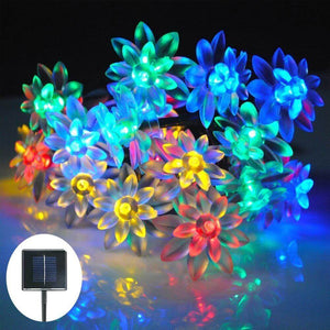 Hardoll 30 Led Lotus Shape solar string lights for home garden outdoor