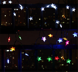 Hardoll® 30 LED 20ft Multi Color Fairy Star string waterproof Solar led Lights for Garden, Home, Outdoor