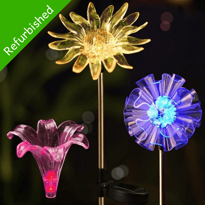 Hardoll Solar Lights for Outdoor Home Garden Decoration Waterproof LED Lamp Dandelion, Lily, Sun Flower Stake Lights (Refurbished)