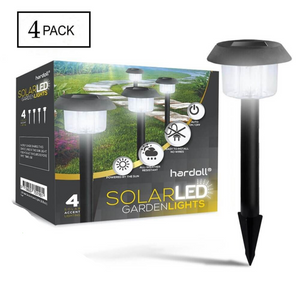 Hardoll Solar Waterproof Path Lights For Garden, Home, Decoration, Outdoor (PACK OF 4) Refurbished
