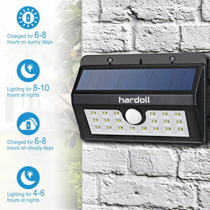 Hardoll 20 LED Solar Lamp Outdoor Motion Sensor Security waterproof automatic lights for Home Garden wall (Refurbished)