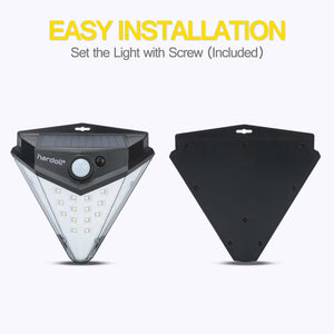Hardoll 32 LED Solar Motion Sensor waterproof outdoor security flood light for home garden gate wall Lamp