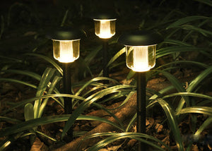 Hardoll Solar Waterproof Path Lights For Garden, Home, Decoration, Outdoor (PACK OF 4)- Warm white (Refurbished)