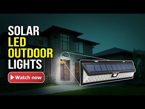 Hardoll 54 LED Solar Light For Home Garden Motion Sensor Outdoor Lamp(Black)