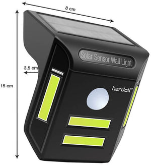 Hardoll Solar Lights For Home Garden COB LED Motion Sensor Outdoor Lamp(Black)