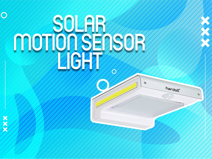 Hardoll 72 LED + COB Solar Motion Sensor waterproof outdoor security flood light for home garden gate wall Lamp