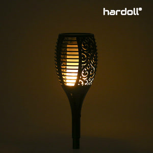 Hardoll Solar Lights for Home Waterproof Flickering Flames Torches Outdoor Landscape Lights for Decoration for Garden (Refurbished)