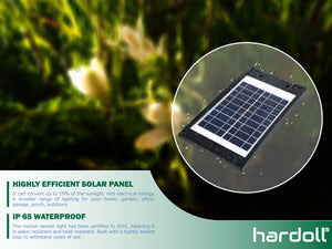 Hardoll Solar Light For Home Garden 10 W COB Motion Sensor Street Lamp (Black)