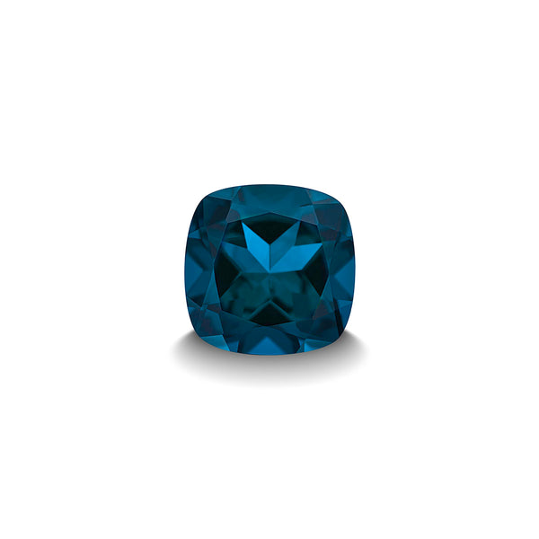 BLUE LONDON TOPAZ 1CT CUSHION CUT