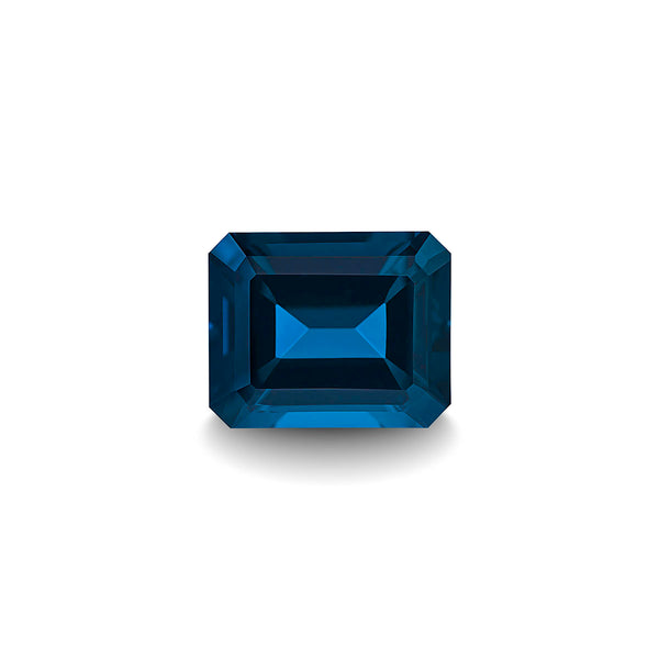BLUE LONDON TOPAZ 1CT EMERALD CUT