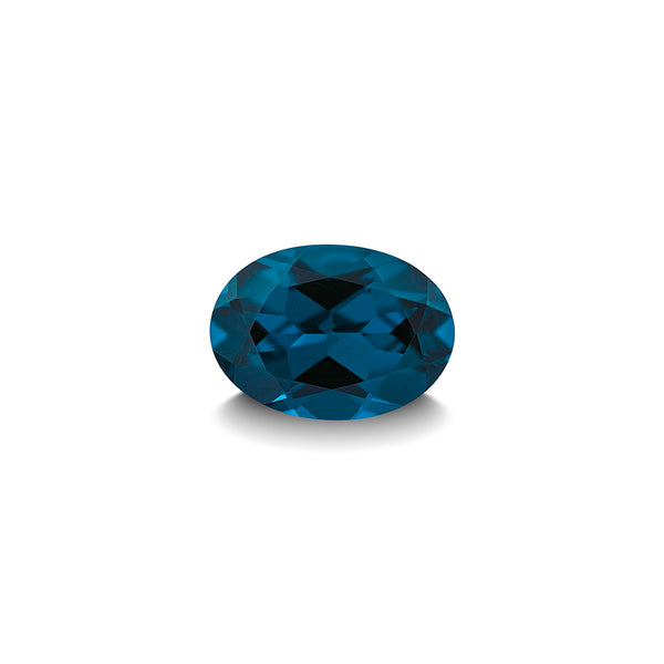 BLUE LONDON TOPAZ 1CT OVAL CUT