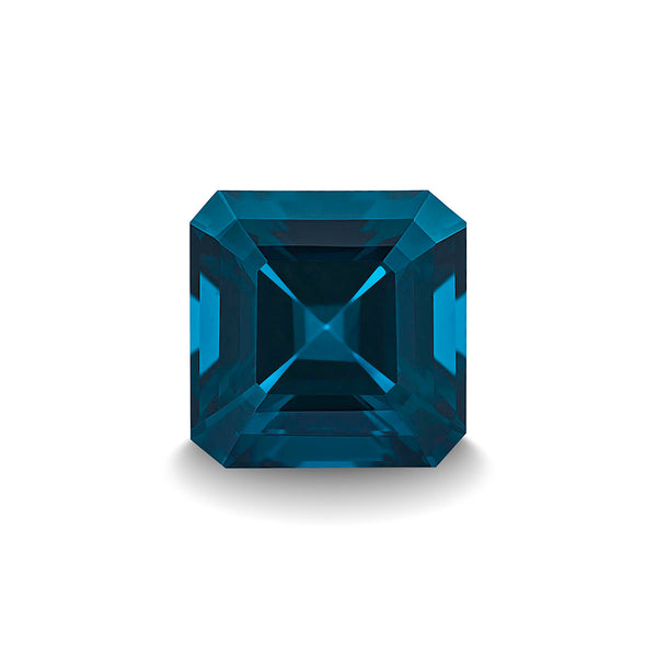 BLUE LONDON TOPAZ 3CT ASSCHER CUT