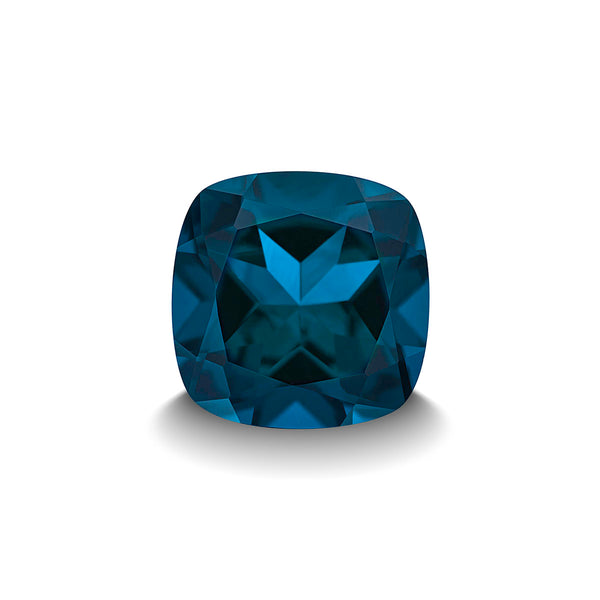 BLUE LONDON TOPAZ 3CT CUSHION CUT