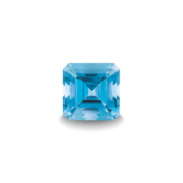 SWISS BLUE TOPAZ 1CT ASSCHER CUT