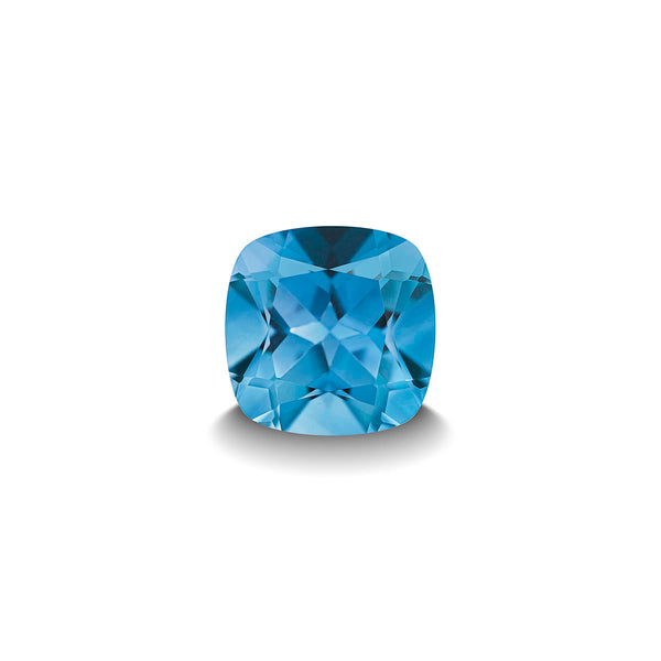 SWISS BLUE TOPAZ 1CT CUSHION CUT