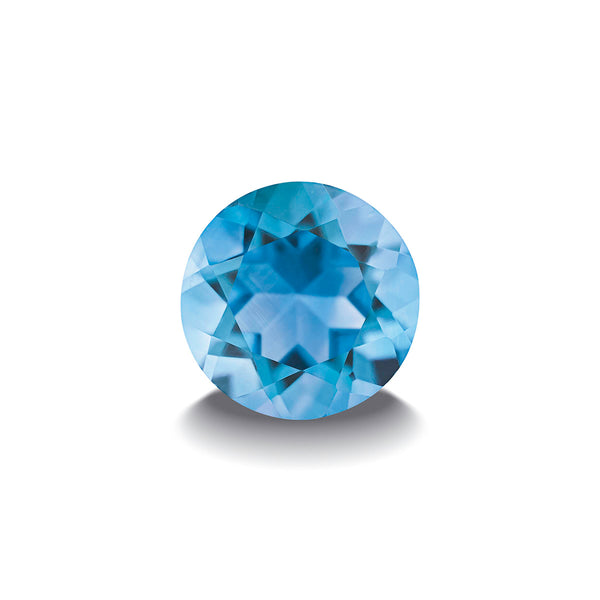 SWISS BLUE TOPAZ 1CT DIAMOND CUT