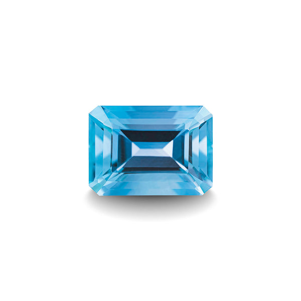 SWISS BLUE TOPAZ 1CT EMERALD CUT