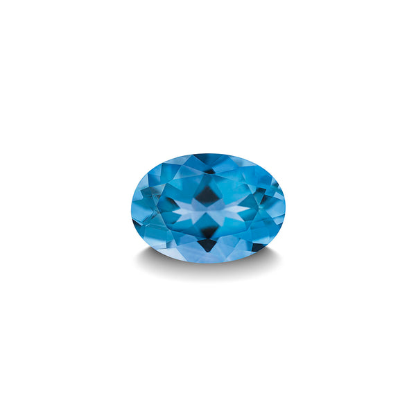 SWISS BLUE TOPAZ 1CT OVAL CUT