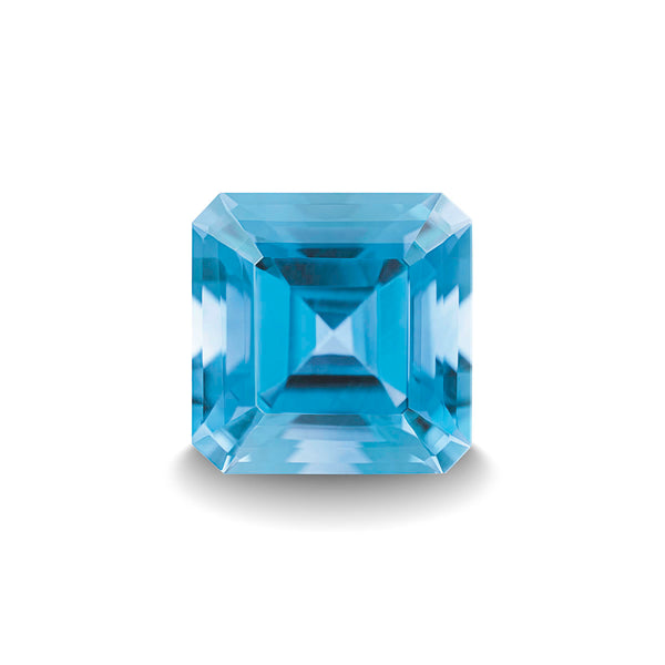 SWISS BLUE TOPAZ 3CT ASSCHER CUT