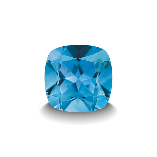 SWISS BLUE TOPAZ 3CT CUSHION CUT