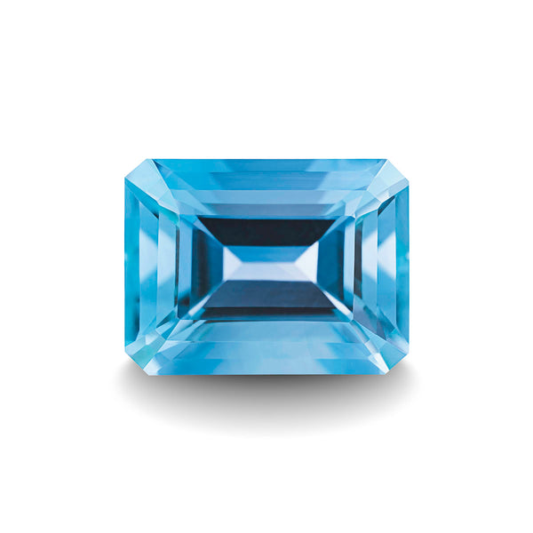 SWISS BLUE TOPAZ 3CT EMERALD CUT
