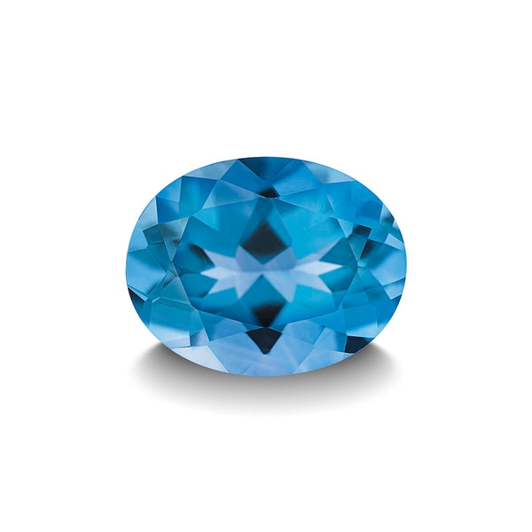 SWISS BLUE TOPAZ 3CT OVAL CUT