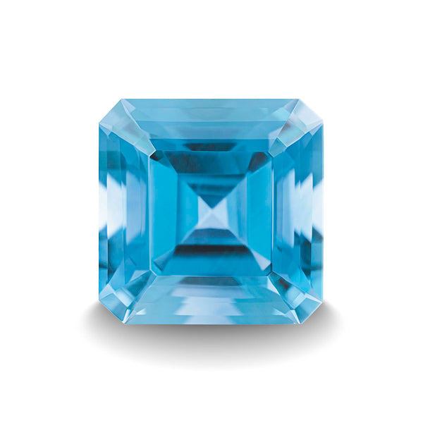 SWISS BLUE TOPAZ 5CT ASSCHER CUT