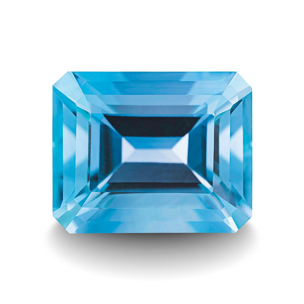 SWISS BLUE TOPAZ 5CT EMERALD CUT