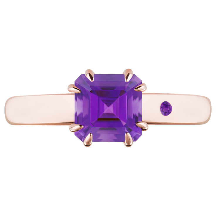 AMETHYST 1CT ASSCHER CUT - Customer's Product with price 115.00 ID ao4ovEF8skkkYP5zAbvgc9wQ