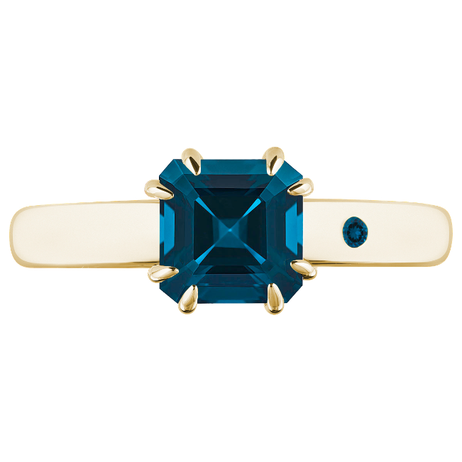 BLUE LONDON TOPAZ 1CT ASSCHER CUT - Customer's Product with price 115.00 ID 6dfi37vfeF4vltkAXqLZythG