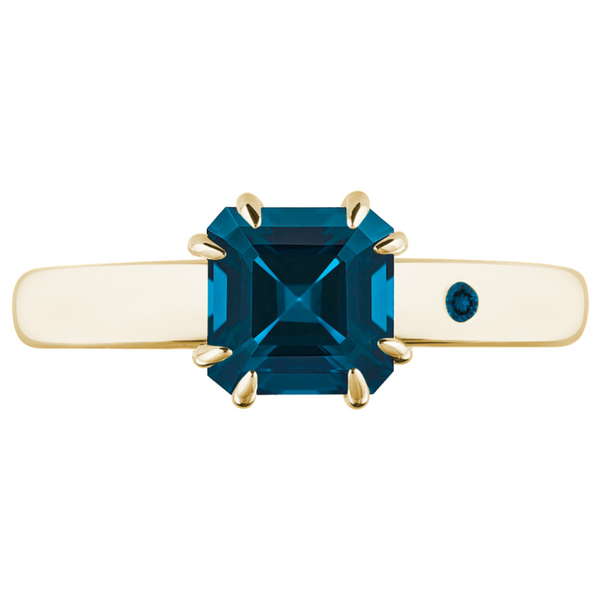 BLUE LONDON TOPAZ 1CT ASSCHER CUT - Customer's Product with price 740.00 ID PPoNaDSIPkNvJ2cb3hbr0udb