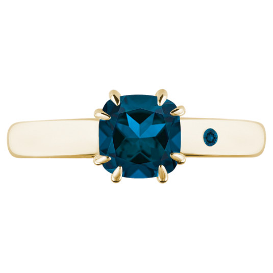BLUE LONDON TOPAZ 1CT CUSHION CUT - Customer's Product with price 115.00 ID JBf0mTSqTXavELepXdSLgW40