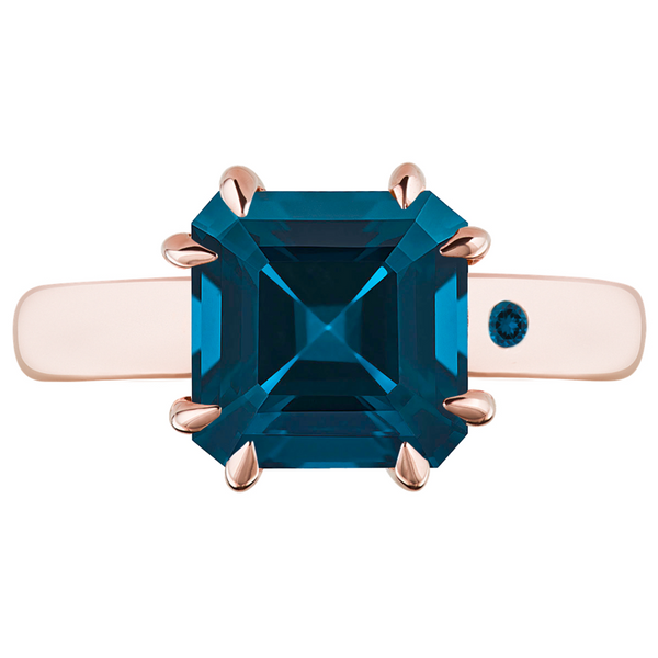 BLUE LONDON TOPAZ 3CT ASSCHER CUT - Customer's Product with price 450.00 ID 8iuCq7xsOeG3qmmGozg8eqf9