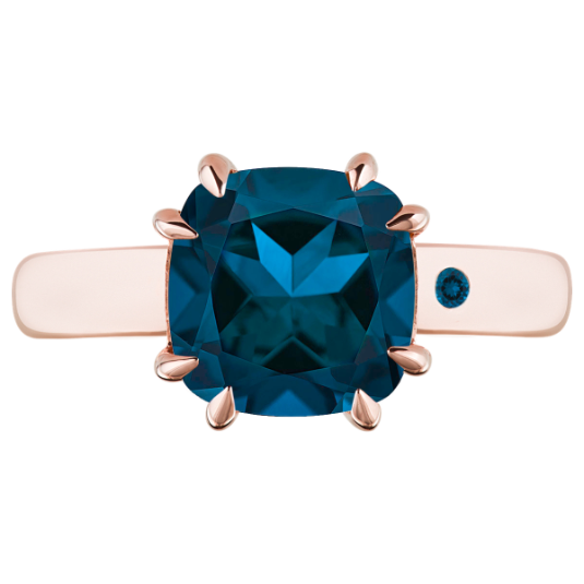 BLUE LONDON TOPAZ 3CT CUSHION CUT - Customer's Product with price 165.00 ID rogryEm_uYcuDXyZqkYAVxrd