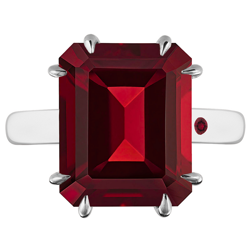 GARNET 5CT EMERALD CUT - Customer's Product with price 315.00 ID nO_XvuK0YV4n8mcVhfl00IDQ