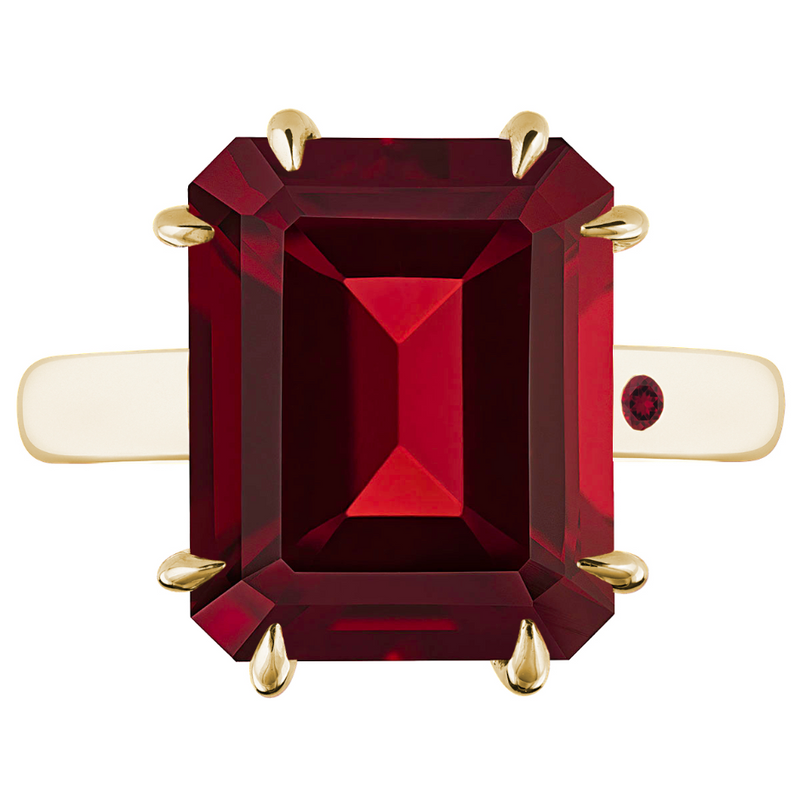 GARNET 5CT EMERALD CUT - Customer's Product with price 1240.00 ID z9jbm8QraQoRJY-MXyMUJ3hl