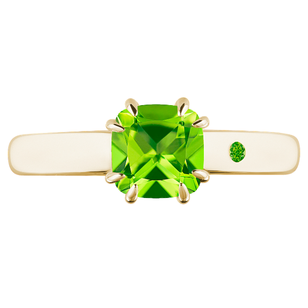 PERIDOT 1CT CUSHION CUT - Customer's Product with price 115.00 ID Dc5J4q_0AiPc4piY6HT9Qdo_