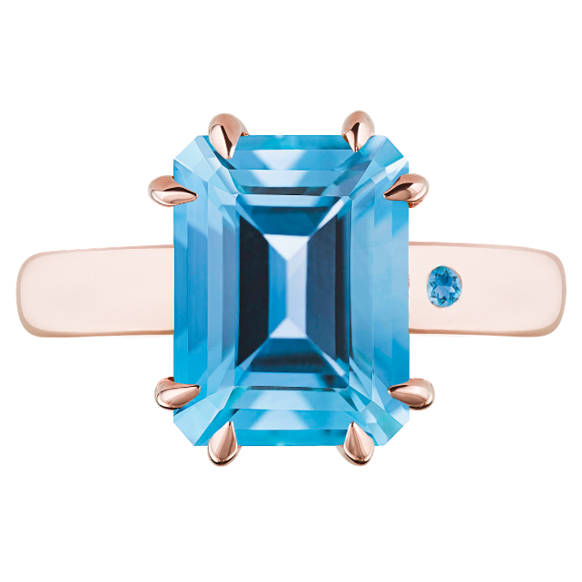 SWISS BLUE TOPAZ 3CT EMERALD CUT - Customer's Product with price 450.00 ID Hrttd_PK60WY5IGAL-0mzfV6