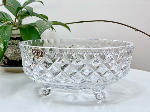 Astra (Germany) footed crystal bowl