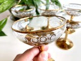 Crown Corning (Australia) champagne coupe glasses (x5)