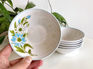 Mikasa (Japan) 'Kerry Blue' Fruit Bowls (x6)
