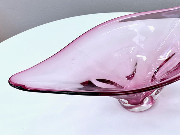 Luminarc (France) 'Rose' champagne flute glasses (x3)
