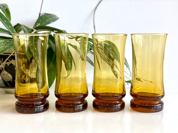 Crown Crystal / Kaaru Glass (New Zealand) 'Ikon' tumbler glasses (x4)