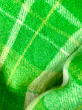 Vintage plaid Australian wool blanket - Kermit green!