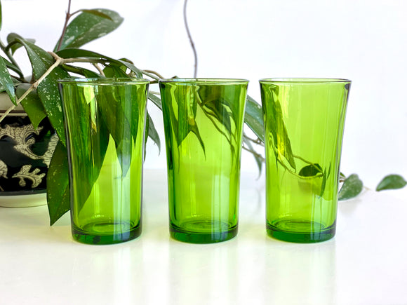Duralex (France) tall glass tumblers (x3)