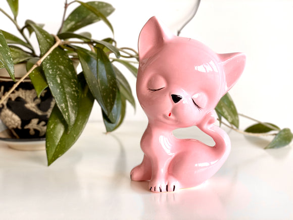RESERVED for L - - - Ceramic cat figurine