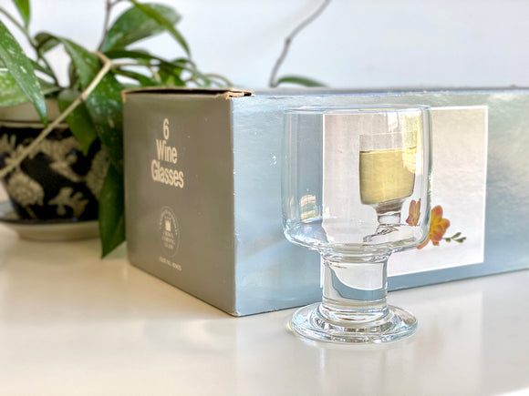 Crown Corning (Australia) 'Interlude' wine glasses (x6) - - - with original packaging!