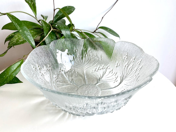Lasisepat Mantsala (Finland) 'Koiranputki' [Cow Parsley] large serving bowl